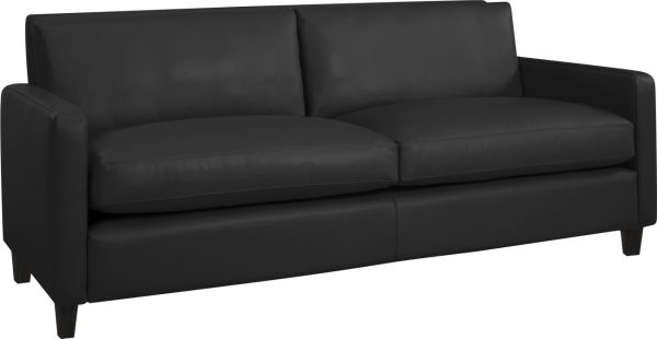 CHESTER Sofas 3 Seat Sofa Black Leather   Habitat